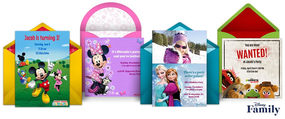 Disney Online Invitations