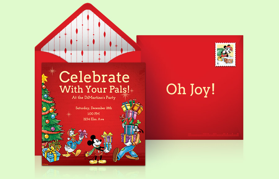 Plan a Mickey Mouse Christmas Party!