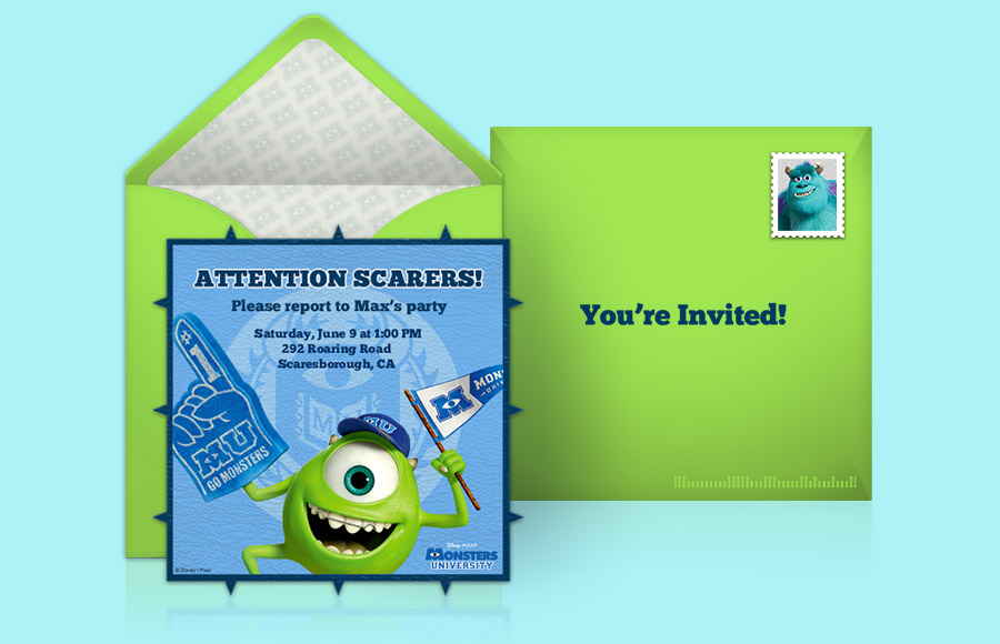 Plan a Monsters University Party!