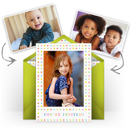 Add photos to beautiful invitations