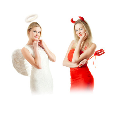 Halloween costume party theme ideas, Angel and Demon halloween party