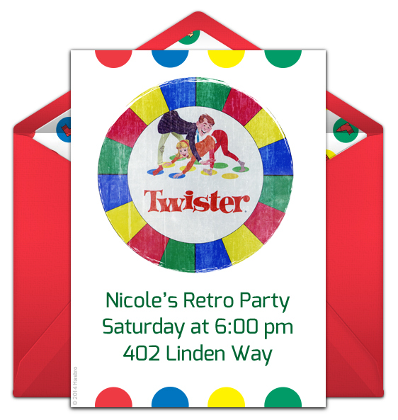 Free Twister Online Invitation