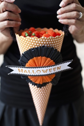 Halloween Party Favors - Candy Filled Paper Cone