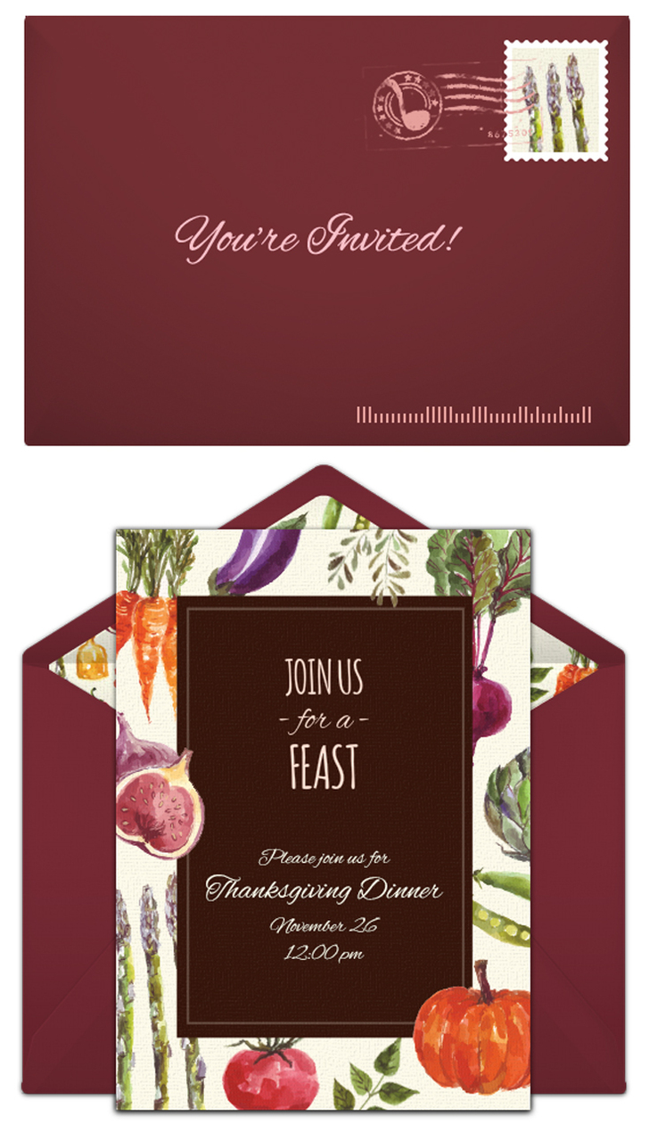 Free Thanksgiving invitations