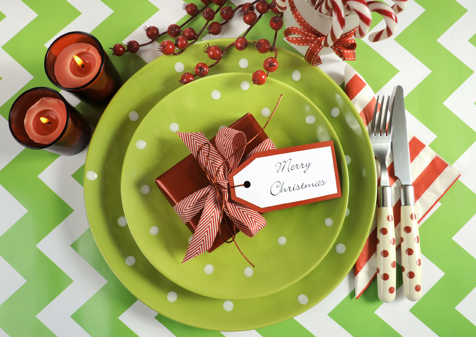 Ugly Sweater Party table setting