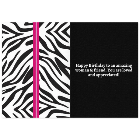 zebra chic  free birthday card for her, happy birthday ecard, Birthday card