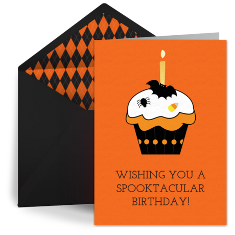 Selective image with halloween birthday cards free printable