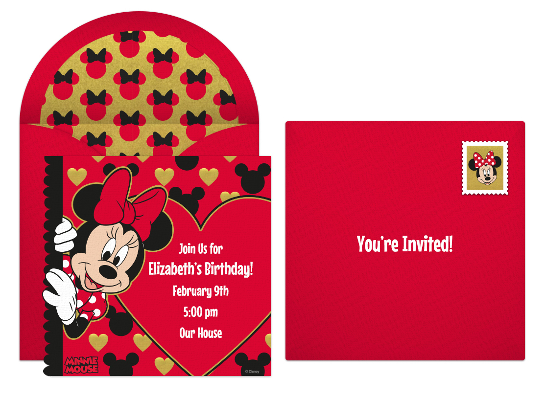 Minnie Mouse Online Invitations