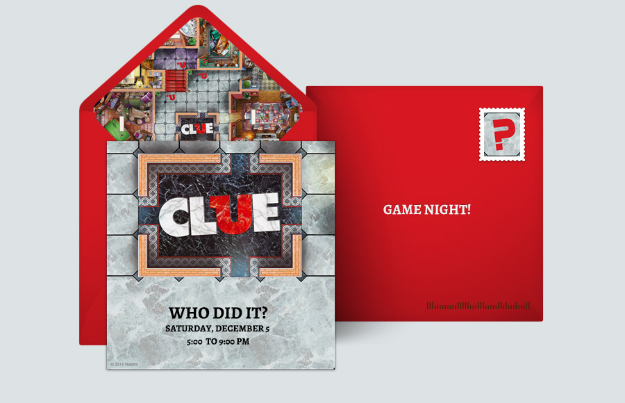 Free Game Night Invitations Game Night Online Invitations – Clue Party Invitations