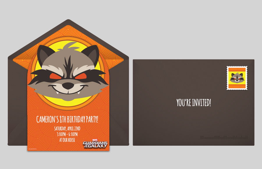 Plan a GOTG Rocket Raccoon Comic Party!
