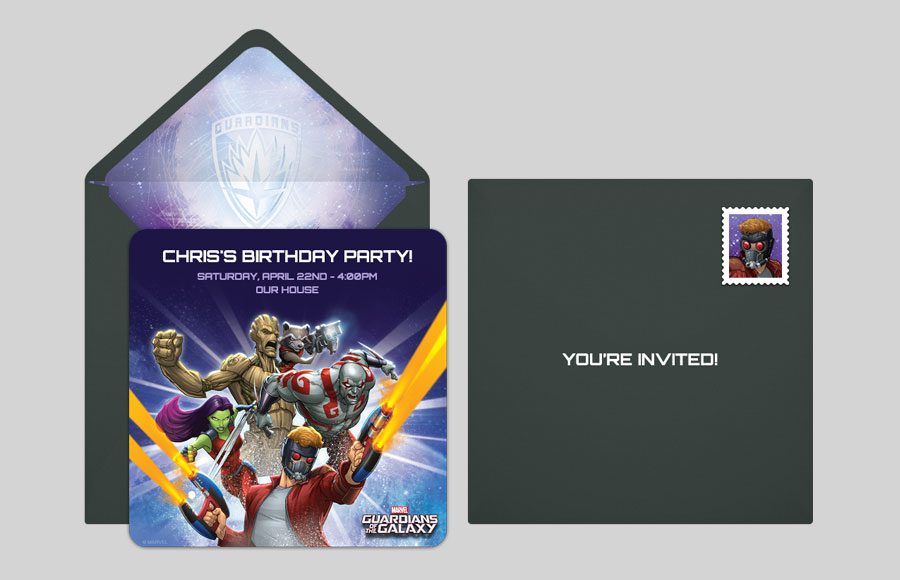 Free Guardians of the Galaxy Online Invitations – Punchbowl Birthday Invitations